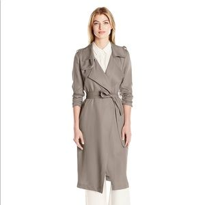 Bragley Mischka Belle grey trench coat